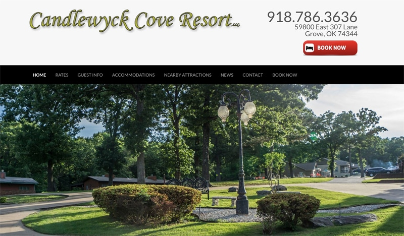 Candlewyck Cove Resort Website, SEO & PPC image