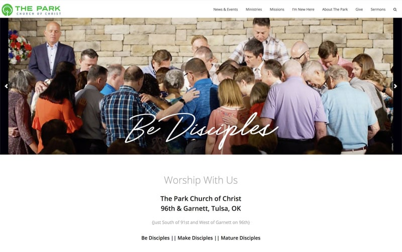 The Park Church in Tulsa, Oklahoma SEO Search Engine Optimization project image