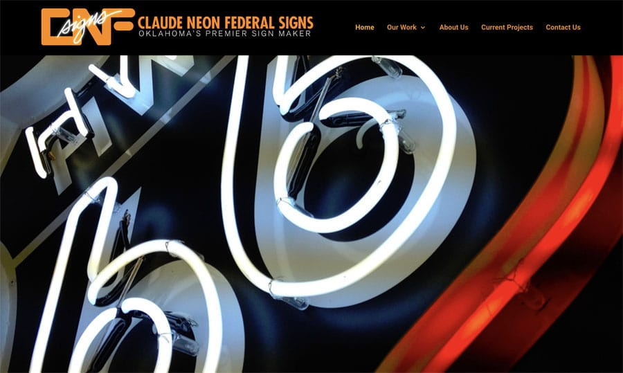 CNF Sign Company in Tulsa, Oklahoma. This is their website look.