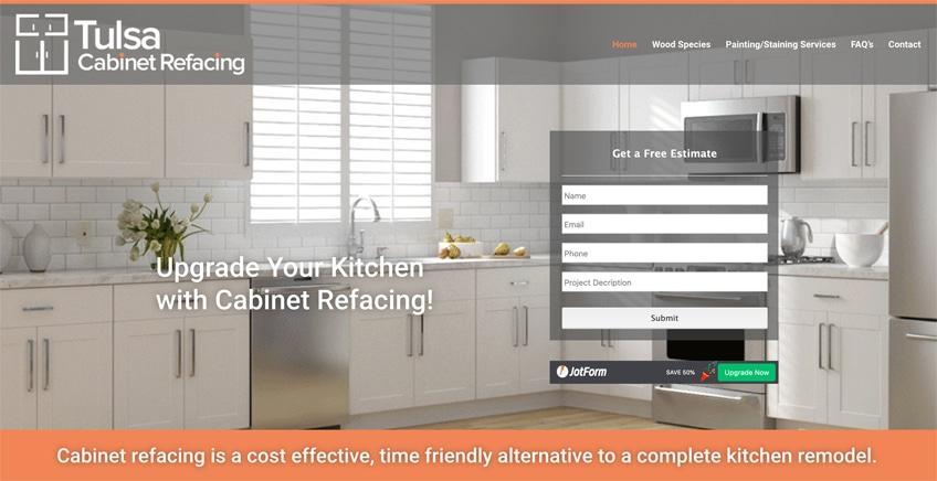 Tulsa Cabinet Web Design