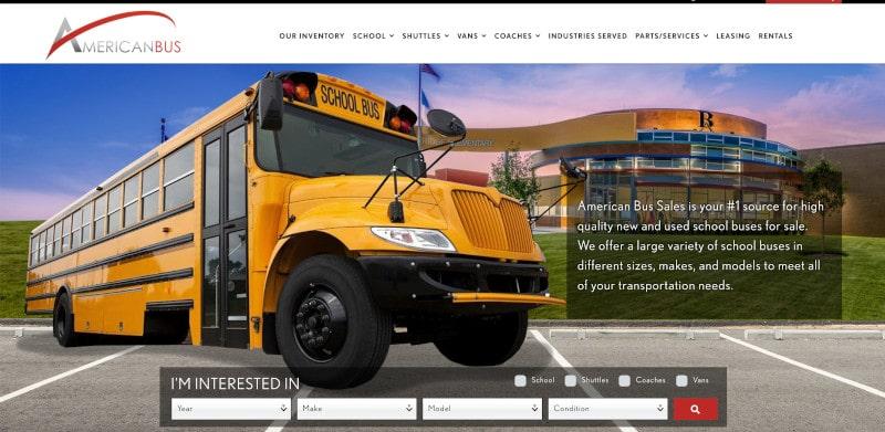 American Bus Sales company website photo